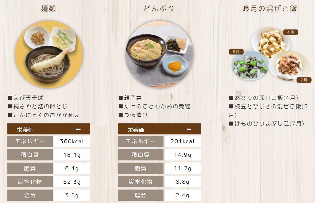 ヘルスディッシュの高齢者向け介護食は、月に一度「混ぜご飯の日」があり、季節の食材を使った美味しいごはんも提供しております。